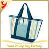 Lined Heat-sealed PVC Picnic Insulated Cooler Tote Bag in Handbag Style