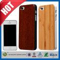 C&t orgánico de bambú de madera limpia el dolor de protección caso para el iphone de apple 5