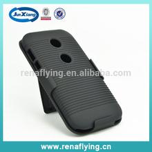 Wholesale price hybrid case for moto E with kickstand