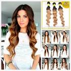 Factory Wholesale 6A Virgin brazilian hair bundles sew in human hair weave ombre hair
