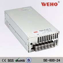Hotsale high power 24v 25a s600 dc switch power supply high voltage oem