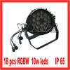 WLP-01-2 HOT 18 pcs 4 in 1 10W RGBW leds IP65 par can moving head par led rgbw