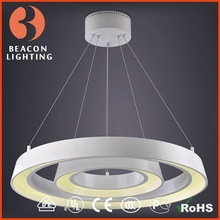 New contemporary led chandeliers halo rings light modern LED Lamp 2 rings MP9829C-2