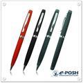 couro de alta qualidade e padrão de impressão caneta esferográfica de metal