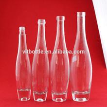 bowling shape glass wine bottle empty glass bottle icewine glass bottle manufacturers