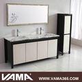 VAMA V-14166B natural marble double sink modern wood bathroom cabinet