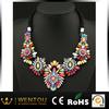 jewels shourouk statement colorful gemstones rainbow flower necklace