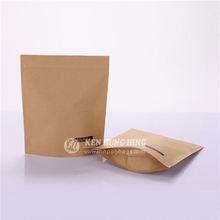 Hot Sales Zip Lock Underwear Packaging Brown Paper Bag Packaging