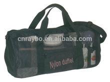 Nylon mesh travel duffel bag