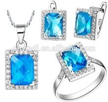FengQi Fashion Design Zircon Jewelry Set, Hot Selling CZ Stone Jewelry Set
