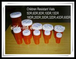 vials Plastic Children Resistant Cap Vials