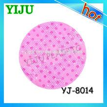 Yiwu vogue round anti-slip pvc bath shower mat