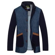 grossista e retalhista de roupa outono jaqueta homem da juventude juventude tendência atacado velo casacos longos com botões de chifre