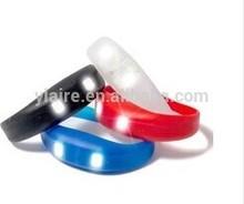 Sound activated led bracelet with 2pcs brightness led