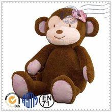 High quality hot selling lovely custom plush animal/soft toy monkey