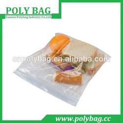 Sandwich Clear Zip Lock Plastic Bag