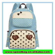 2014 south Korean style canvas backpack handbag students little backpack tide female fashion bag Iovely Adjustable, pocket,