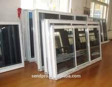 office sliding glass window/Specail Price High quality U PVC Sliding windows