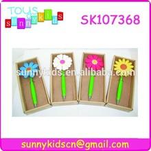 flower shape cute pen for school supply