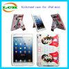 2014 hot selling handle cute girl silicone case for iPad mini case