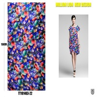 different types of soft and thin dubai dresses with chiffon floral printed fabric