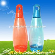 Bowling shape plastic water bottle