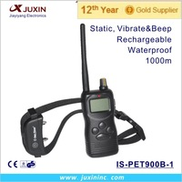 Durable 1000m Waterproof Charging Remote Control Shock Hunting Training Collar for Small Dog