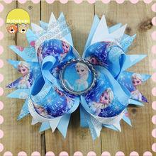 Beautiful Cute Lovely Cheap Yellow Crochet Flower small hair bows