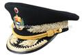 casquillo / gorra de uniforme de la oficina militar de calidad de primera clase / navy logo embrodiery tapa máxima del metal