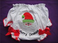 Wholesale Christmas santa claus underwear baby cotton white nappy cover
