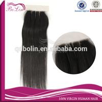 Alibaba China Cheap Price Virgin Brazilian human hair three part straight silk based lace closure