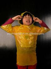 Designer PE disposable rain poncho