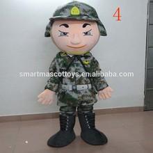 De tamaño natural de la venta superior transitable del traje del ejército ejército adultos traje de la mascota