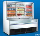 Guangzhou manufacturer Supermarket showcase refrigerator commercial freezer supermarket open display fridge blast freezer