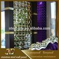 elegante decorationed esvazie aço inoxidável 3d partição sala