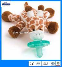 giraffe plush little animal doll baby silicone pacifier