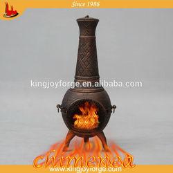 Classical solid cast iron chiminea wood stove outdoor chiminea