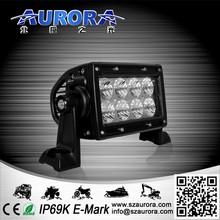 High quality 4'' 24W dual row light bar led truck work lights