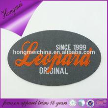 oval label damask shirt tag design original for clothing