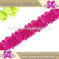 بيع المصنع مباشرة t0108-1 pink مطرز الرباط كم طويل بلايز