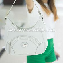 china supplier women white pu handbag tote bag for sale