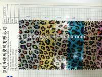 2014 hot semi PU shiny leopard grain leather
