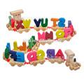 Lettre'enseignement maternelle enfant train jouet en bois
