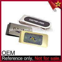 Wholesale Branded Logo Printed Custom Stainless Steel Metal Money Clip