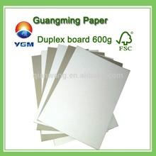 coated duplex board grey back coated gray back board 200gsm
