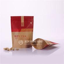 Eco Friendly Zip Lock Tear Notch Brown Paper Bag Packaging