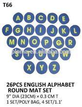 (T66) 26PCS ENGLISH ALPHABET ROUND MAT SET