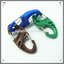 Dongguan plastic carabiner/carabiner hook/colorful snap rings