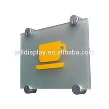 Wall Mounted Edge Grip Acrylic Sign Holder Aluminium Anodized Standoff