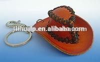 Mini cowboy hat keyring gift/promotional keychain/custom keychain